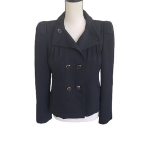 Gucci Double Breasted Black Wool Fitted Blazer